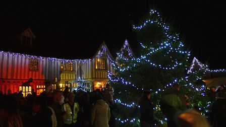 The Lavenham Christmas Fair, pictured here during previous years, has been cancelled for 2020. Pictu