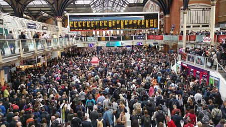 There are no crowds like this at Liverpool Street Station now. Picture: MAURO MURGIA