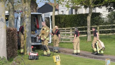 11 pumps were called to a fire at Hawstead Hall Picture: SARAH LUCY BROWN