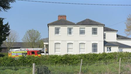 12 pumps were called to a fire at Hawstead Hall. Picture: SARAH LUCY BROWN
