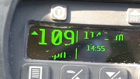 A man was caught on the A14 at Newmarket driving at 109mph by police officers today. Picture: NSRAPT