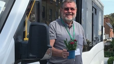 John, one of the volunteers, with the Halesworth Area Community Trust bus Picture: JO LEVERETT