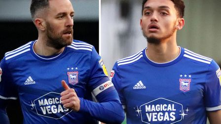 Cole Skuse and Andre Dozzell are both out of contract on June 30. Picture: ROSS HALLS