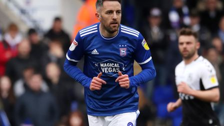 Cole Skuse is one of the Ipswich Town players out of contract on June 30 Photo: ROSS HALLS