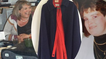 L/R: Judith Abbott returned the cloak to Philomena Convery-Moroney 31 years ago she lost it. Picture