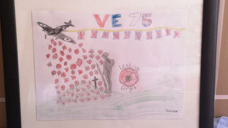Jamie's design for the VE Day t-shirt. Picture: MANDY SMALL