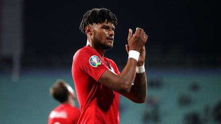 Tyrone Mings applauds fans after making his England debut. Picture: PA SPORT