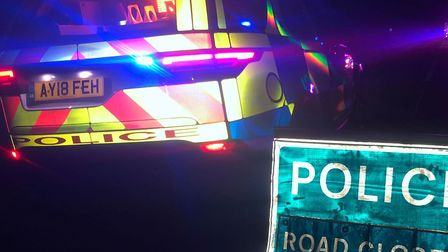 Police have closed the A12 whilst they deal with the collision. Picture: CHARLOTTE BOND