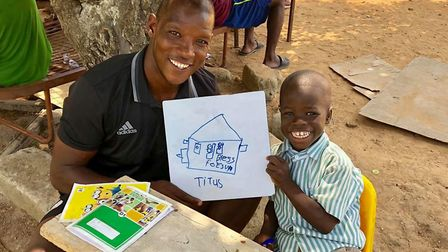 Former Ipswich Town defender Titus Bramble regularly travels to Ghana to work with the Futurestars p