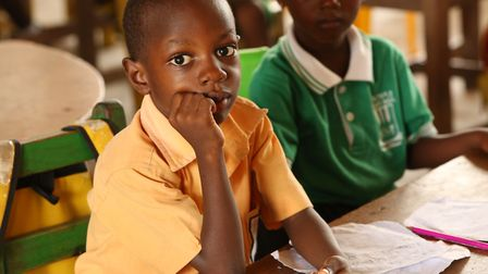 Pupils at one of the Ghanaian schools that the Futurestars project works with. Photo: Contributed