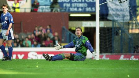 Craig Forrest pictured in the Blues game against Sheffield Wednesday in October 1994