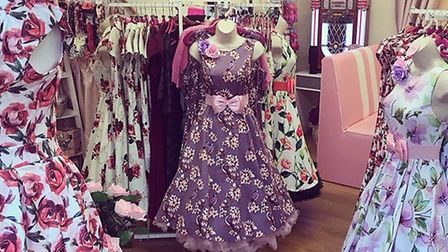 Vintage dresses on sale at PDP Fashion, prior to the lockdown Picture: Jackie Slade
