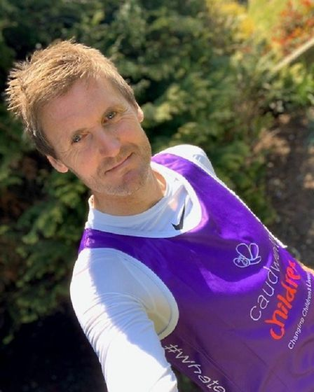 Mr Carpenter, from Copford in Essex, is completing the 2.6 Challenge after the London Marathon was p