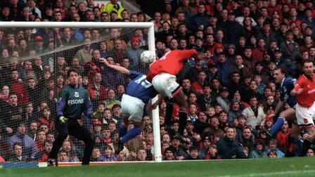 The Blues conceded nine goals at Old Trafford in March 1995. Picture: ARCHANT