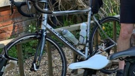 A silver Cannondale Synapse bike was stolen from a shed in Woodbridge. Picture: SUFFOLK CONSTABULARY