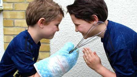 East Bergholt brothers Dexter (left) and Roman (right) are going head-to-head in a fundraising chall