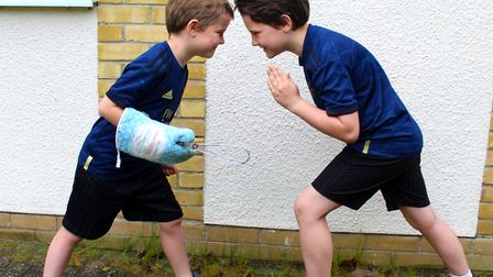 The two boys will be taking part in the challenge for 26 days during the coronavirus pandemic Pictu