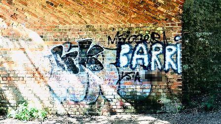 People have begun to retaliate with the graffiti tags of 'Barry' by adding their own opinions on the