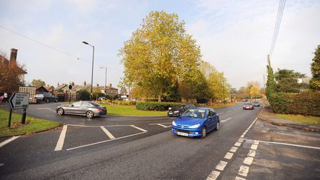 Tollgate Junction in Bury St Edmunds is to receive improvements Picture: GREGG BROWN