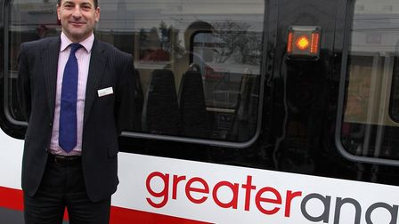 Greater Anglia managing director Jamie Burles. Picture: GREATER ANGLIA