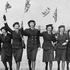 I just love these two pictures of my (3rd from Right) Mum (Joyce Green nee Bradford) celebrating VE