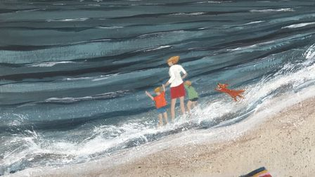 Testing the Water by Barbara Pierson which is part of the Art for Cure online exhibition - the large