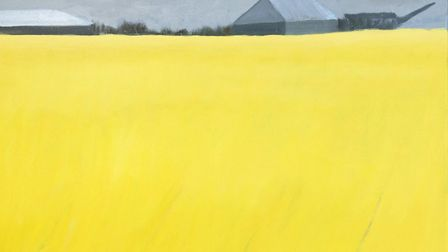 Agricultural Buildings 2 by Eileen Coxon, which is part of the Art for Cure online exhibition - the