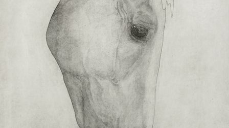 Grazing Horse by Guy Allen which is part of the Art for Cure online exhibition - the largest virtual