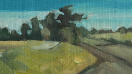 Spring Sky by Martin Coe which is part of the Art for Cure online exhibition - the largest virtual g