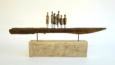 Journey Down the River by Roger Hardy which is part of the Art for Cure online exhibition - the larg