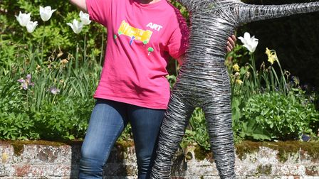 Art for Cure event is moving from Glenham Hall to online. Pictured is organiser Belinda Gray. Pictur