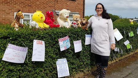 Alice has more than a dozen animals on display outside her house Picture: ALICE SIMPSON