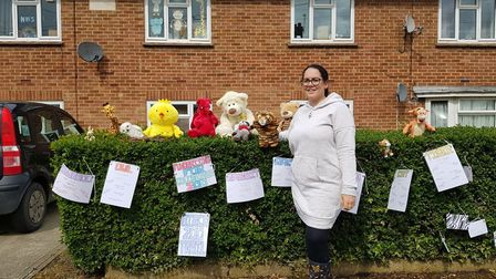Almost a dozen homes in the village are taking part in the zoo trail to raise money for Colchester Z