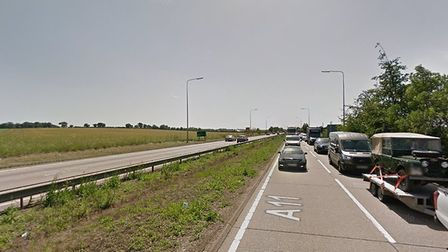 The woman was allegedly travelling at 120mph down the A11 Picture: GOOGLE MAPS
