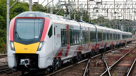 The new Intercity trains are operating between London and East Anglia, This is a train at Colchester