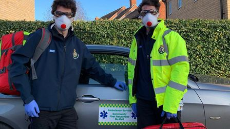 Colchester twins Dean, left, and Ryan Appleton are calling for more people to consider volunteering