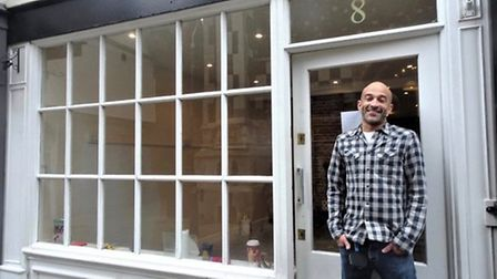 Shop owner Andrew Marsh outside the property on Ipswich's Dial Lane earlier this year PICTURE: The I