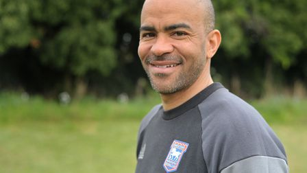 Former Ipswich Town player and Whitton boy Kieron Dyer. Phot: Sarah Lucy Brown