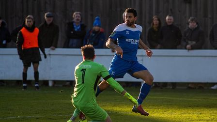 Carlos Edwards was duel-registered with Bury Town this season too! Picture: HANNAH PARNELL