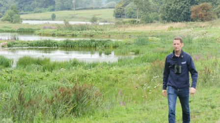 Anglian Water's wetland at Ingoldisthorpe in Norfolk - part of its commitment to sustainability and