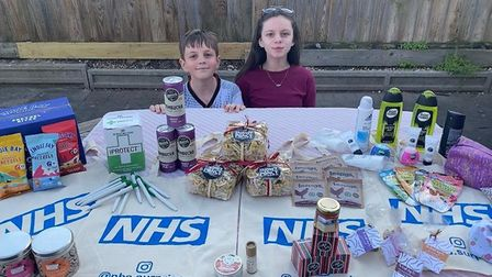 The brother and sister duo have stepped up during the coronavirus crisis Picture: NHS.SURPRISE