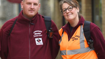 Sudbury town wardens Bradley Smith and Mel Edwards. Picture: GREGG BROWN/ARCHANT ARCHIVES