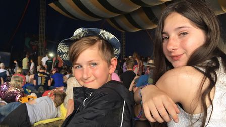 Ella and Ethan at Latitude in 2019 Picture: CHARLOTTE SMITH-JARVIS