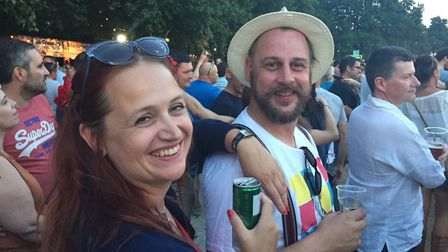 Liz and John Nice at The Killers in Hyde Park Picture: JO NICE