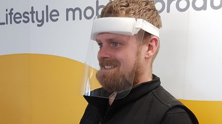 Scooterpac has supplied the NHS Nightingale Hospitals with thousands of face shields Picture: SCOOTE