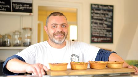 Andrew Storer, owner of the Black Dog Deli in Walberswick. Picture: SARAH LUCY BROWN