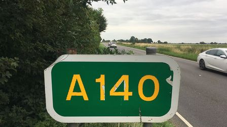Works to build two new roundabouts near Eye Airfield on the A140 are continuing Picture: SIMON PARKI