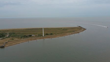 An aerial view of Landguard Point in June 2019 Picture: Ott Tuulberg