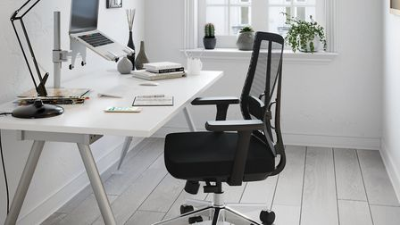 An ergonomic chair and desk could be a worthwhile investment for your home office. Credit: Century O