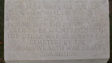 The foundation stone laid by the ladies at the field of remembrance in 1915 Picture: Julia Barrett
